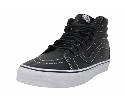 Vans Shoes SK8-Hi Reissue Unisex Hi-Top Sneakers Leather (black/plaid) (7.5 Men/ 9.0 Women)