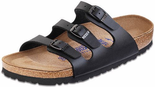 Birkenstock Women's Florida Soft Footbed Birko-Flor  Black Birko-flor Sandals - 37 M EU / 6-6.5 B(M) US by Birkenstock