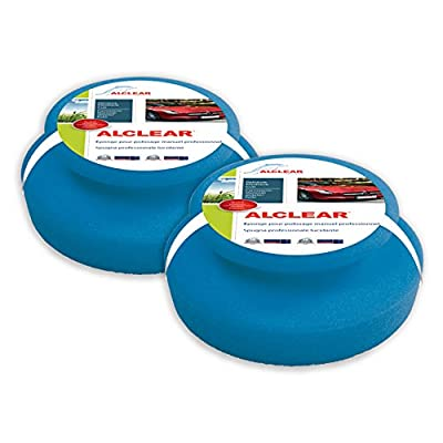 ALCLEAR Professional Polishing Sponge for The Cleaning of Bodywork and dashboards Pack of 2: Automotive