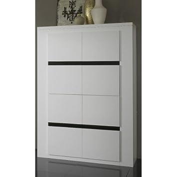meuble bar design tania coloris laqu blanc et noir - Meuble Bar Design