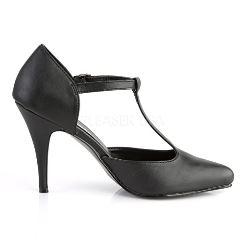 PleaserUSA Damen High Heel-Pumps Vanity-415 Abendschuhe Ausgehschuhe Tanz Gala Elegant Mattschwarz