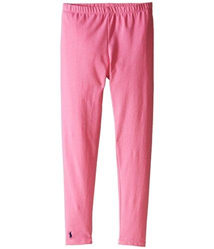 Polo Ralph Lauren Kids Solid Jersey Leggings Little Kids/Big Kids Maui Pink Girl's Casual ()