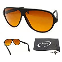 Aviator Blue Blocker Sunglasses with Free Microfiber Cleaning Case.