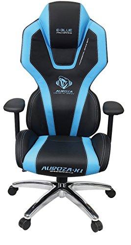 41TBXke0bIL - E-Blue Auroza Gaming Lighting Chair High Grade PU Leather PC Gaming Racing Bucket Seat Office Ergonomic Computer eSports Desk Executive LED Lights EEC301R