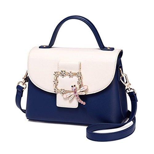 JIUTE Paquete Bolso de Mensajero del Hombro del Nuevo Bolso de la Manera del Verano Color de la Versión Coreana del Bolso Pequeño cristalino Femenino (Color : Blue) Blue