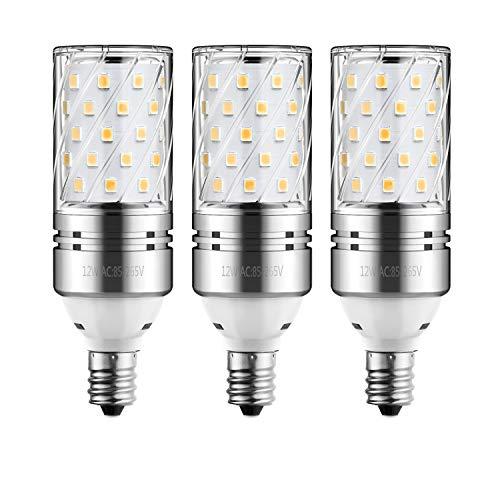 HzSane LED Corn Bulbs, 12W Warm White 3000K LED Bulbs, 100 Watt Incandescent Bulbs Equivalent, E12 Base, 1200 Lumens LED Lights, Cylinder Bulbs, 3 Pack