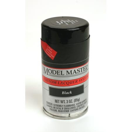 Testors Model Master Lacquer Spray Paint Black ()
