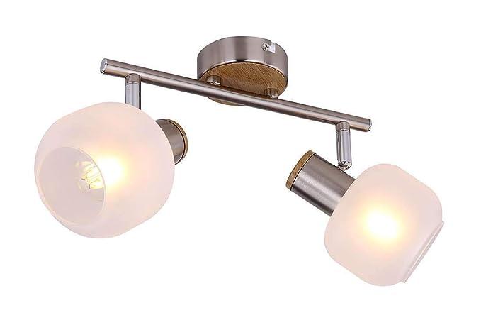 2 Lámpara techo pasillosalóncristal con focospara de thrCxodsBQ