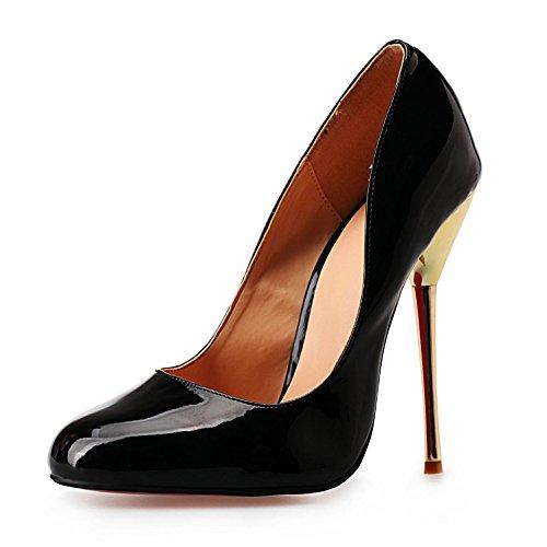 40 L Verano Zapatos Básicas Señalados Para Vestido Pu De Black Grande La Alto Del Sandalias Boda Bomba Tacón Luz 50 yc rSx5wq8Bvr