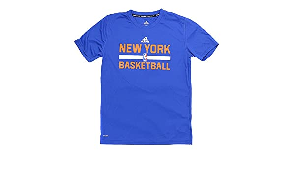 37a6ffdff9ba Amazon.com   adidas New York Knicks S S Climalite Practice NBA Fan  Basketball Tee - Youth Kids   Sports   Outdoors