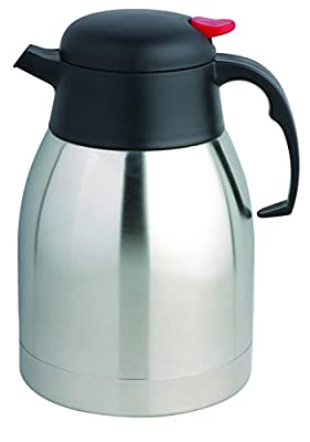 COOX 1.2L Mini Vacuum Insulated Thermal Carafe Pitcher - Unbreakable Stainless Steel Double Wall Jug for Coffee or Hot & Cold Drinks