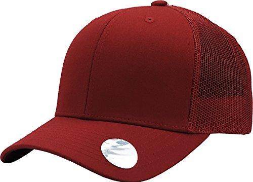 KBE-MESH BUR-BUR Classic 6 Panel Mesh Cotton Twill Trucker Cap Adjustable Snapaback Hat