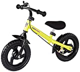 High Bounce Balance Bike Adjustable from 11''-16'' With a Hand Brake (Yellow)