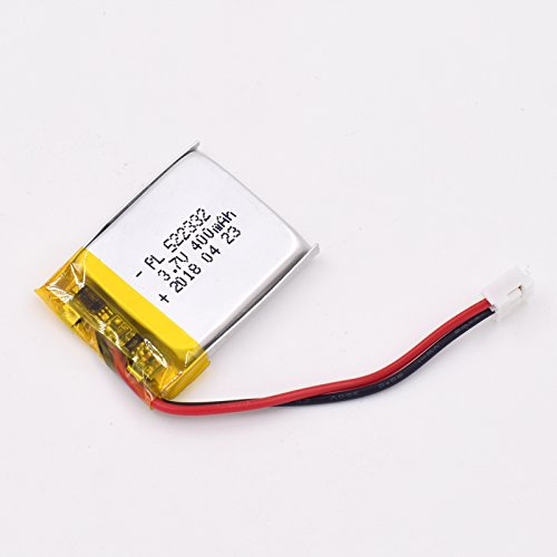 3.7V 400mAh 522332 Lipo battery Rechargeable Lithium Polymer ion Battery Pack with JST Connector
