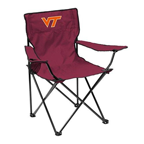 Logo Brands NCAA Virginia Tech Hokies Quad Chair, Adult, -