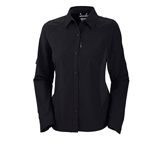 Columbia Women's Silver Ridge Long Sleeve Shirt, X-Large, Black