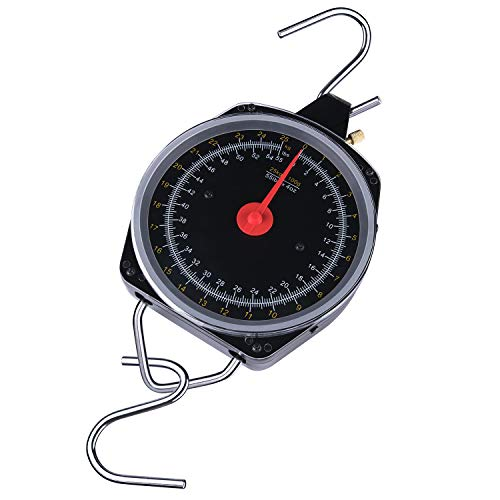 YOGAYET Hanging Dial Scale Farm Mechanical Scales with 55lb Capacity Spring for Kitchen Fishing Hunting