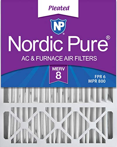 Nordic Pure 20x25x5 (4-3/8 Actual Depth) MERV 8 Lennox X6673 Replacement AC Furnace Air Filter, 2 PACK, 2 piece
