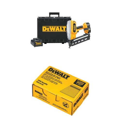Dewalt 18v Finish Nailer (DEWALT DC618K XRP 18-Volt Cordless 1-1/4 Inch - 2-1/2 Inch 16 Gauge 20 Degree Angled Finish Nailer Bundle)