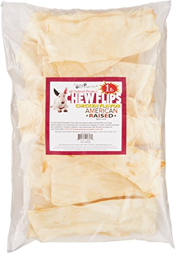 Pure & Simple Pet 6582 Chicken Rawhide Chew Flips, 16 oz by Pure & Simple Pet