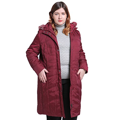 Femmes Long Quilted Vestes MSVASSA Rembourr Red nfYwqnCH