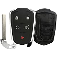 Replacement Keyless Remote Fob Key Shell Case For 2014 2015 2016 Cadillac ATS 2014 2015 Cadillac CTS HYQ2AB 13598507