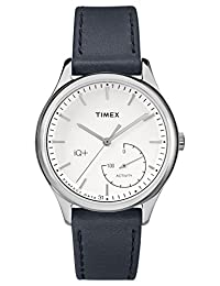Timex Women's TWG013700L3 Fashion IQ+ Move White Dial and Blue Leather Strap Additional Silicone Strap Watch