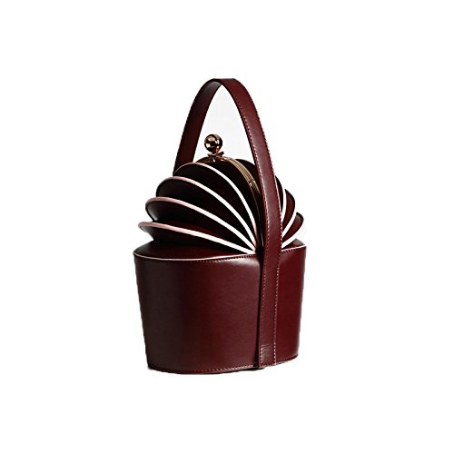 A Forma Women's High Fashion Brown Quality Leather Handbag MYLL Forma Purple Ananas Di Personality Di A Borsa nR7BPwBx