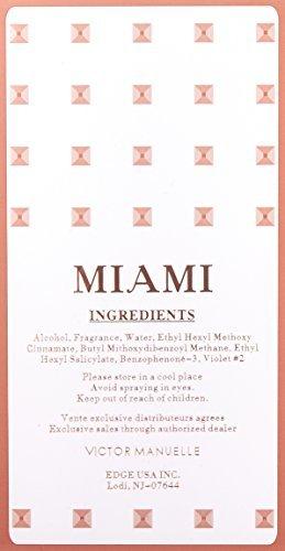 Victor Manuelle Miami Eau de Parfum Spray for Men, 3.4 Ounce