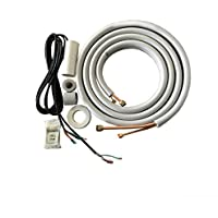 COOPER AND HUNTER 1/4 x 3/8 Pre-Flared Insulated Copper Line Set Communication Wires for Ductless Mini Split Air Conditioner Heat Pump Models (1/4 x 3/8 25ft + Wire)