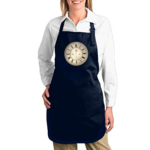 Fat Girl Costume Walmart (Dogquxio The Clock Kitchen Helper Professional Bib Apron With 2 Pockets For Women Men Adults Navy)