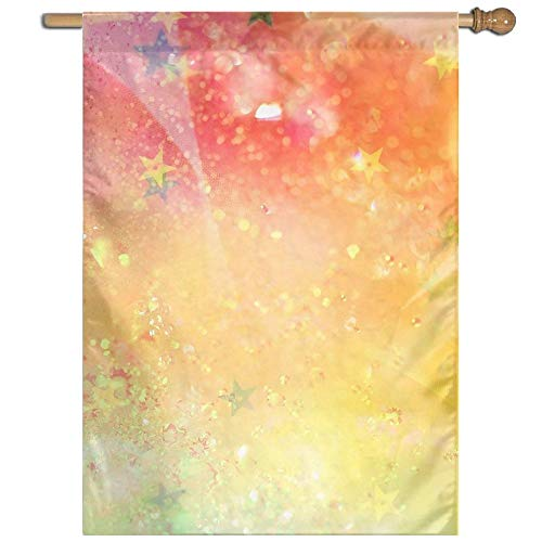 Garden Flag Colorful Sparkles Lawn Banner Outdoor Yard Home Flag Wall Decoration Flag 27 X 37 Inch