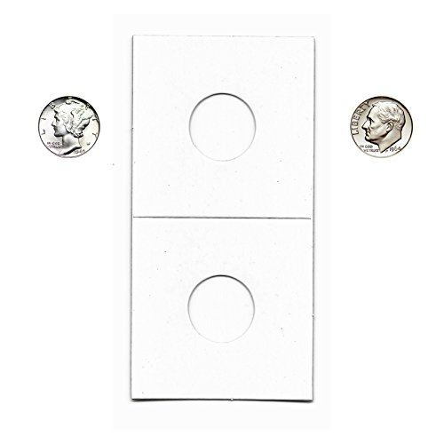 Coin Flips For Dimes, 100 Count, Guardhouse Brand Cardboard and Mylar 2