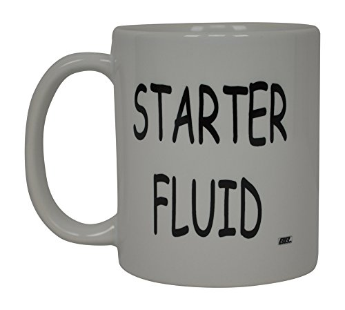 Funny Mechanic Coffee Mug Starter Fluid Novelty Cup Great Gift Idea For Men Car Enthusiast Humor Brother or Friend