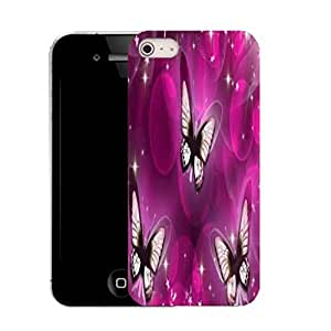 New Hard Printed Pattern case for iPhone 4 whispy butterflies by ruishername