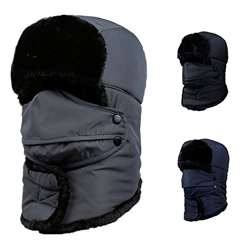 [Woods World 2016 New Style Unisex Winter Trapper Trooper Hat with Breathable Windproof Mask Faux Fur Hat] (Baby State Trooper Costume)