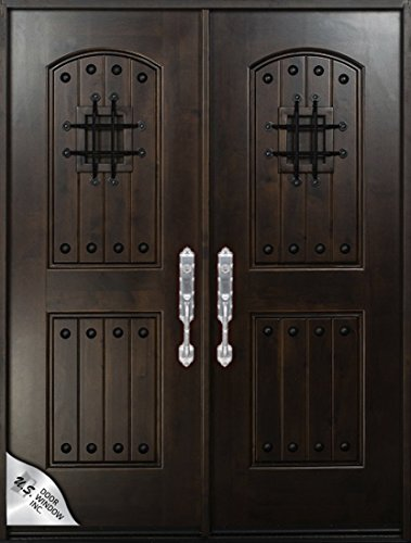 Knotty Alder Exterior Front Entry Double Door 30