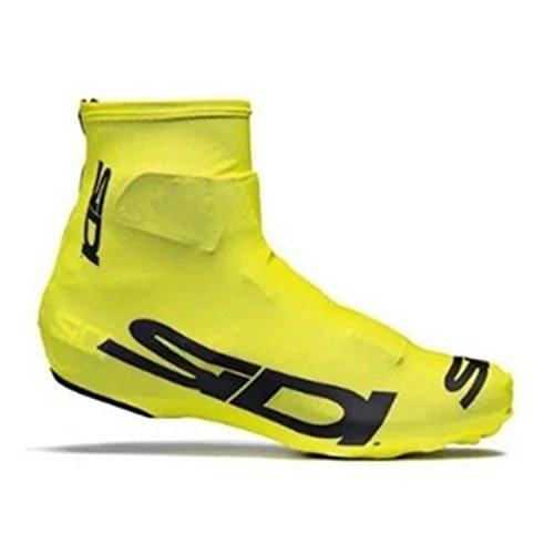 SODIAL Bicycle Dustproof Cycling Overshoes MTB Bike Cycling ShoeCover Sports Accessories Riding Pro Road Racing L Yellow ()