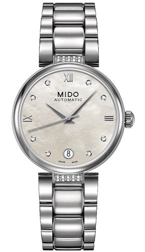Mido Baroncelli II Donna Automatic MOP Diamond Dial Womens Watch M0222076111611