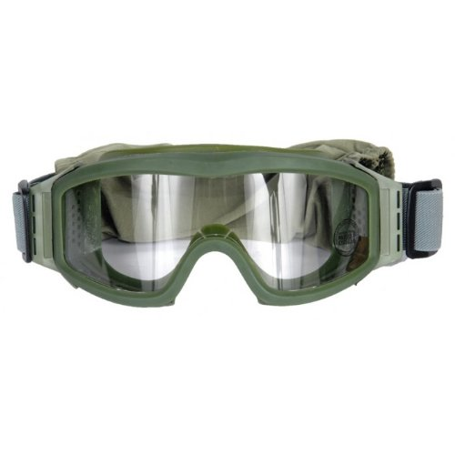 Lancer Tactical CA-201G Clear Lens Safety Airsoft Goggles (OD Green), Maxiumum Protection