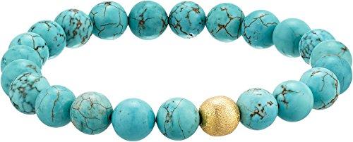 (Dee Berkley Unisex Stabilized Turquoise Gemstone Beaded Bracelet Turquoise 7 1/2 in)