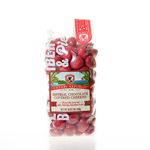 Cherry Republic Chocolate Cherries - Authentic & Fresh Imperial Chocolate Covered Cherries Straight from Michigan - Milk Chocolate & Red Cherry Chocolate, 16 Ounces