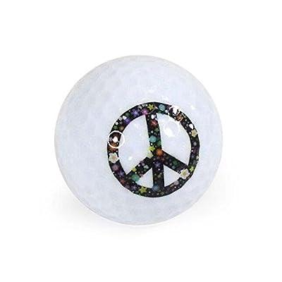 Nitro Novelty Golf Balls Peace Sign 3 Display Tube (3 Pack) from Nitro Golf LLC