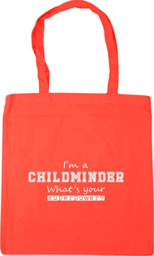 Beach 10 Tote Your x38cm Superpower Shopping I'm Coral 42cm Bag HippoWarehouse A What's Childminder litres Gym zYFOBAq