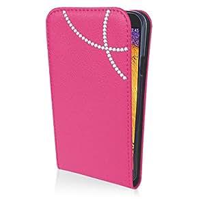 eSPee GN3NB1026 con arco con carcasa de silicona y cierre magnético para Samsung Galaxy Note 3 Neo N9005 rosa