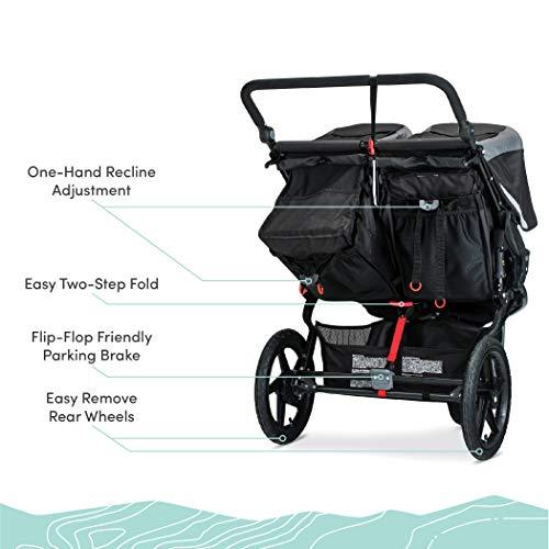 41TBfms0DXL - BOB Gear Revolution Flex 3.0 Duallie Double Jogging Stroller | Smooth Ride Suspension + Easy Fold + Adjustable Handlebar, Graphite Black [New Logo]