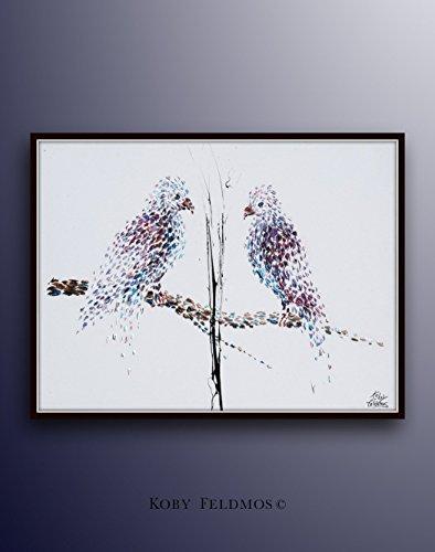 Purple Parrot Painting 40