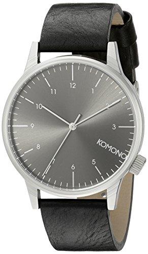 KOMONO Unisex KOM-W2255 Winston Regal Series Analog Display Japanese Quartz Black Watch