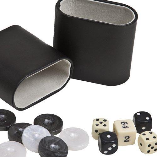 注目の Aristotle Dice Arcylic Marbleized Backgammon Checkers from Greece, Dice B008XDLA6Y & Two Two Genuine Leather Dice Cups -Black/Ivory 3.7cm B008XDLA6Y, AsianTyphoOon:63552303 --- cliente.opweb0005.servidorwebfacil.com