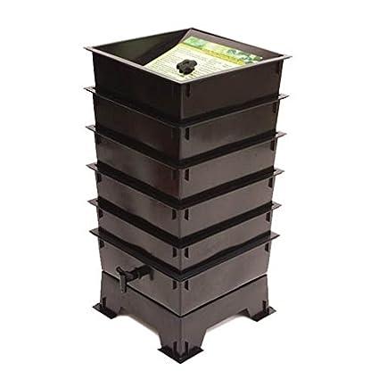 Amazon.com: El gusano Factory 5-tray Tacho, Negro: Jardín y ...